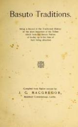 "Cover of ""Basuto traditions"""