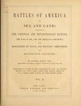 """Cover of """"Battles of America by sea and land"""""""