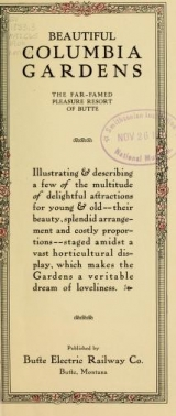 Cover of Beautiful Columbia Gardens