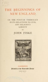 Cover of The beginnings of New England