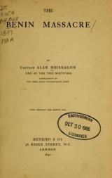Cover of The Benin massacre