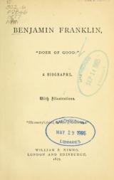 Cover of Benjamin Franklin, 'doer of good'