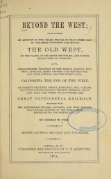 Cover of Beyond the West