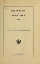 Cover of Bibliography of aeronautics