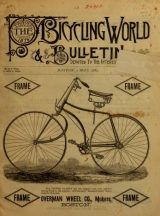 Cover of The Bicycling world & L.A.W. bulletin