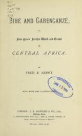 Cover of Bihel`and Garenganze