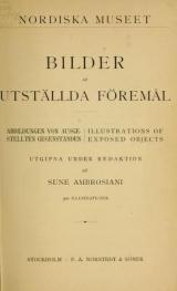 Cover of Bilder af utställda föremål