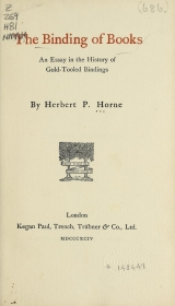 Cover of The binding of books
