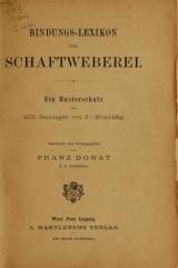 Cover of Bindungs-Lexikon für Schaftweberei