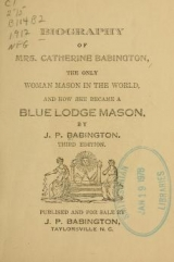 Cover of Biography of Mrs. Catherine Babington