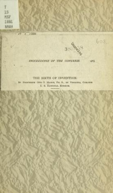 Cover of The birth of invention