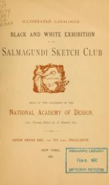 Cover of Black and white exhibition of the Salmagundi Sketch Club