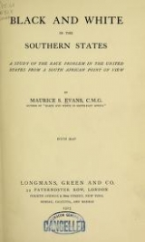 Cover of Black and white in the southern states