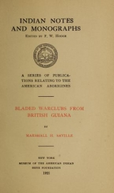 Cover of Bladed warclubs from British Guiana