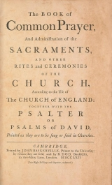 Cover of The Book of common prayer