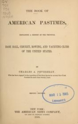 Cover of The book of American pastimes