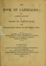 """Cover of """"The Book of carriages"""""""
