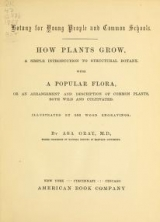 Cover of Botany for young people and common schools