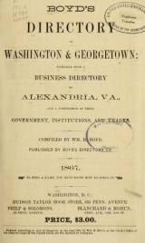 Cover of Boyd's directory of Washington & Georgetown