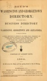 Cover of Boyd's Washington and Georgetown directory