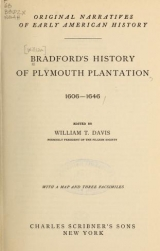 Cover of Bradford's history of Plymouth plantation, 1606-1646