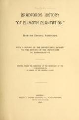 Cover of Bradford's history 'Of Plimoth plantation.'