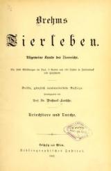Cover of Brehms Tierleben allgemeine Kunde des Tierreichs - mit 1800 Abbildungen im Text, 9 Karten und 180 Tafeln in Farbendruck und Holzschnitt