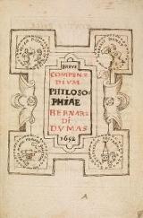Cover of Breve compendium philosophiae