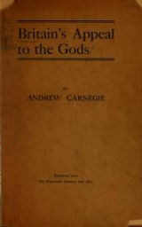 Cover of Britain's appeal to the gods