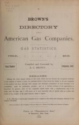 Cover of Brown's directory of American gas companies