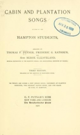 Cover of Cabin and plantation songs