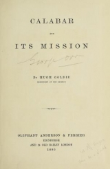 Cover of Calabar and its mission