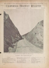Cover of California highway bulletin 5th issue (1916:July 1)