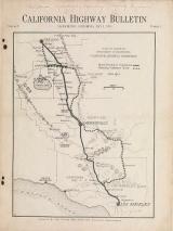 Cover of California highway bulletin v.1:no.2 (1913:May 1)