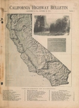 Cover of California highway bulletin