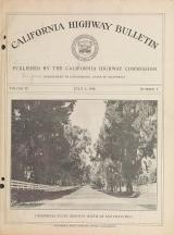 Cover of California highway bulletin v.2:no.1 (1914:July 1)