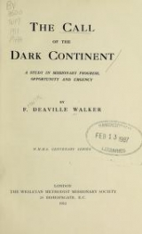 Cover of The call of the dark continent