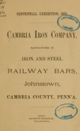 Cover of Cambria Iron Company