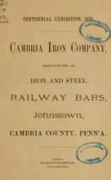 Cover of Cambria Iron Company
