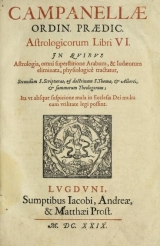 Cover of Campanellæ ... Astrologicorum libri vi