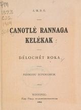 Cover of Canotlé rannaga kelékak