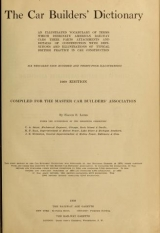 Cover of The car builders' dictionary