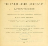 Cover of The car-builder's dictionary