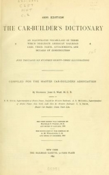 Cover of Car-builder's dictionary