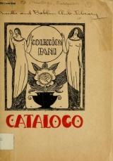 Cover of Catalogo de las pinturas y dibujos de la Colección Pani