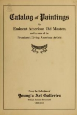Cover of Catalog of paintings by eminent American old masters