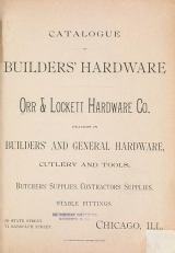 Cover of Catalogue of builders' hardware