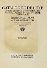 Cover of Catalogue de luxe of the Department of fine arts, Panama-Pacific international exposition