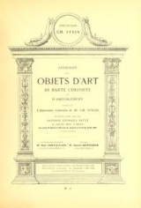 Cover of Catalogue des objets d'art de Haute Curiosite et d'ameublement - composant l'importante collection de M. CH. Stein.