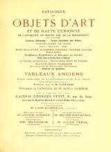 Cover of Catalogue des objets d'art et de haute curiosite de l'antiquite, du moyen age, de la renaissance et autres faiences italienneres emaillees des Robbia,
